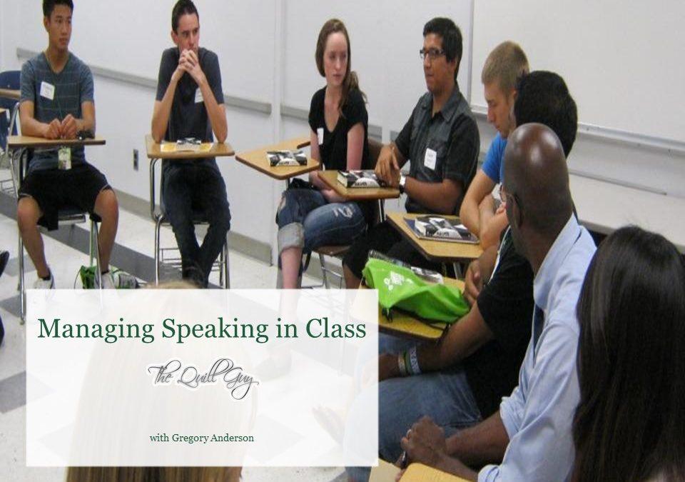 Speaking in Class