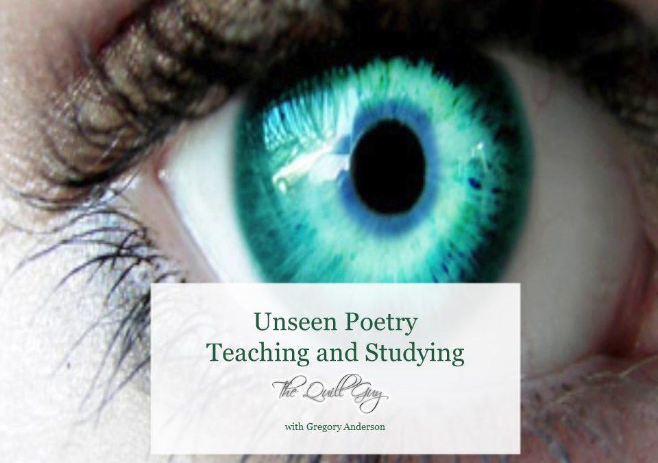 Marking unseen poetry