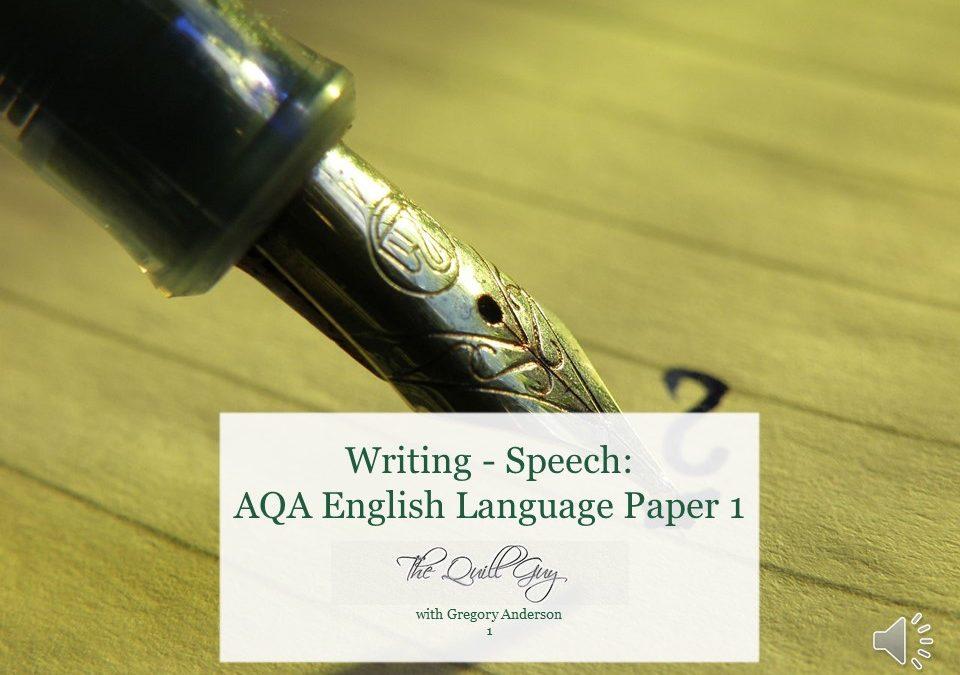 Speech: Year 9 English Language AQA