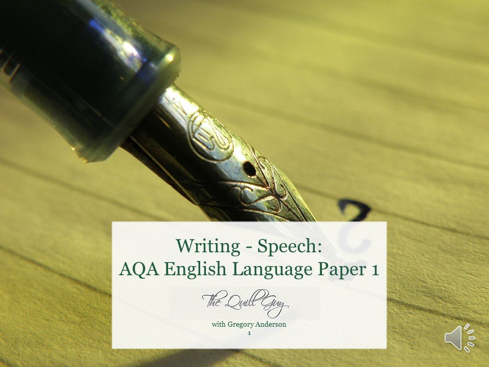 Speech: Year 9 English Language AQA