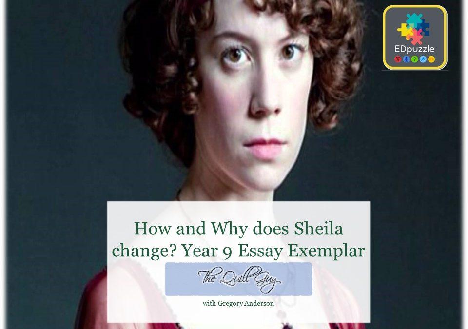 sheila birling student essay exemplar ed puzzle an inspector  sheila birling student essay exemplar ed puzzle an inspector calls